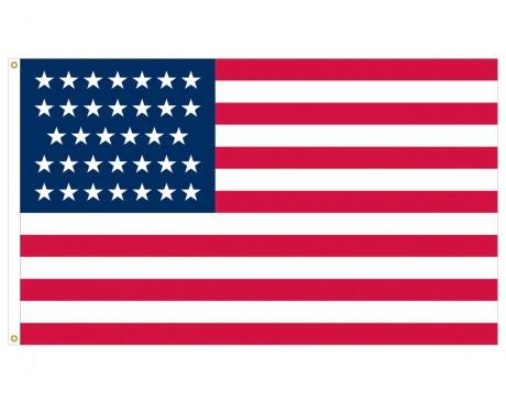 34 Star Union Civil Flag