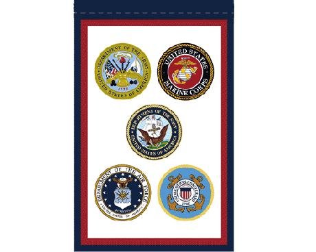 US Armed Forces Garden Flag