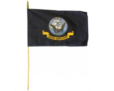 Navy Stick Flag