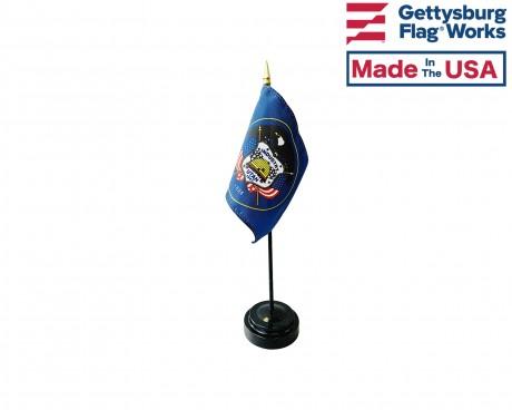 "Utah State Stick Flag - 4x6"""