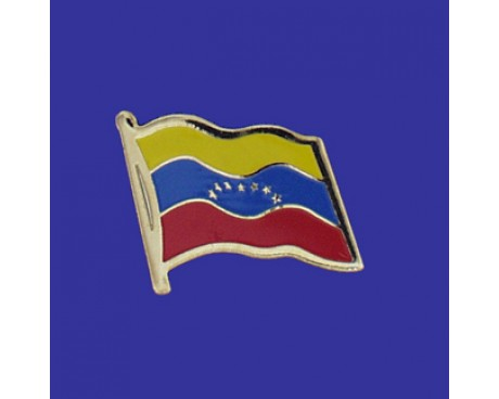 Venezuela (no seal) Lapel Pin (Single Waving Flag)