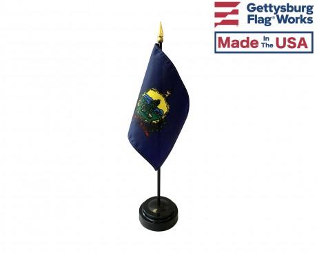 "Vermont State Stick Flag - 4x6"""