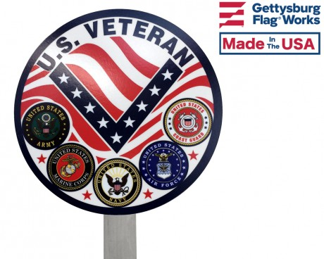 Universal Service Military Grave Marker Close Up