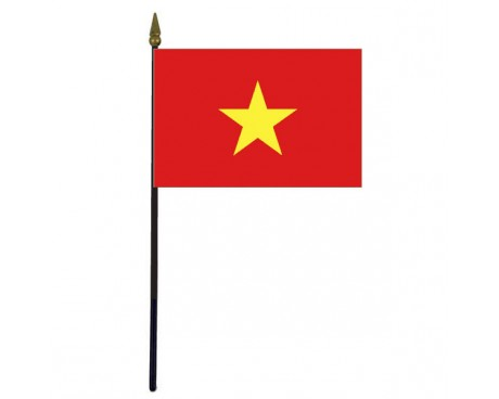 Vietnam Stick Flag - 4x6""