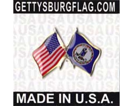 Virginia State Flag Lapel Pin (with US Flag)