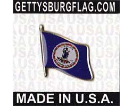 Virginia State Flag Lapel Pin (Single Waving Flag)