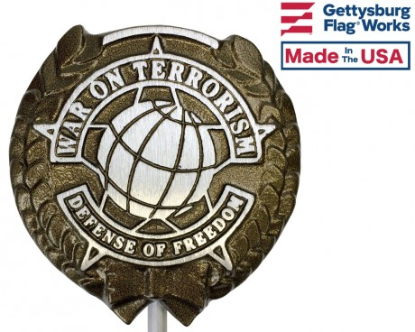 War On Terrorism Aluminum Grave Marker