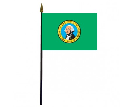 Washington State Stick Flag - 4x6""
