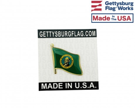 Washington State Flag Lapel Pin (Single Waving Flag)