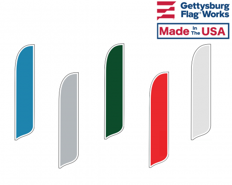 Blank Nylon Wave Banner Flags - Choose Options