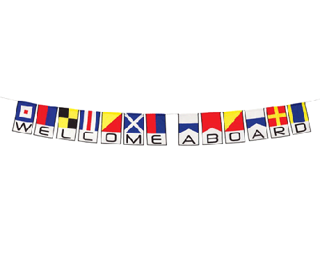 Welcome Aboard String of Flags Sm