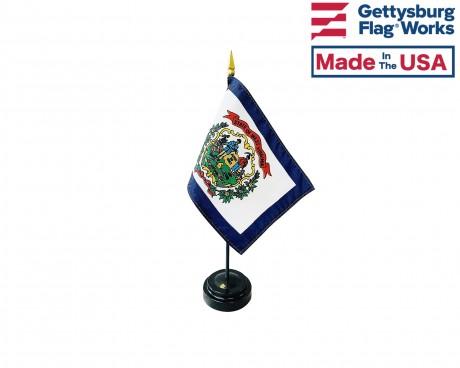 "West Virginia State Stick Flag - 4x6"""