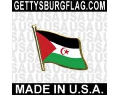 Western Sahara Lapel Pin (Single Waving Flag)