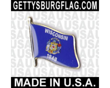 Wisconsin State Flag Lapel Pin
