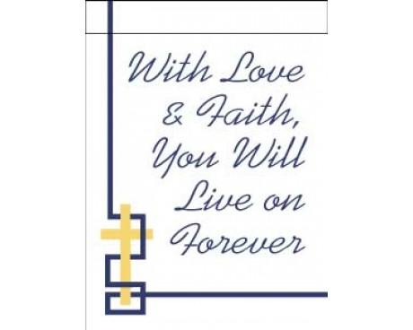 With Love & Faith Garden Flag