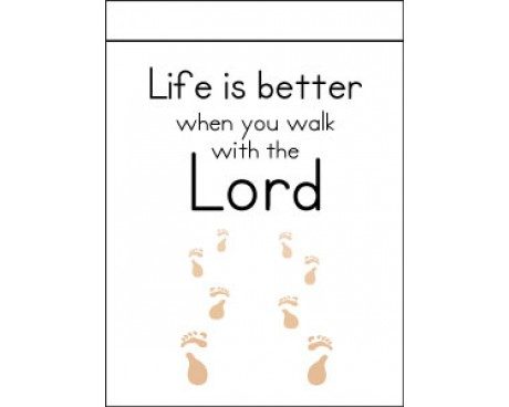 Life Is Better When You Walk With The Lord Flag