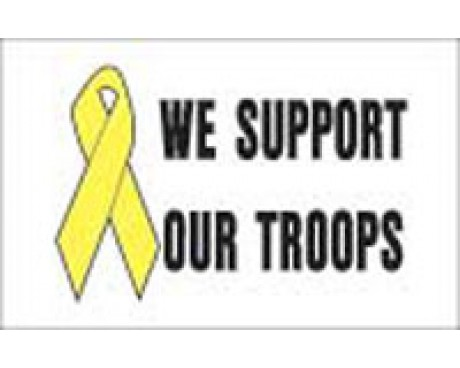 Support Our Troops Ribbon Flag - 3x5'