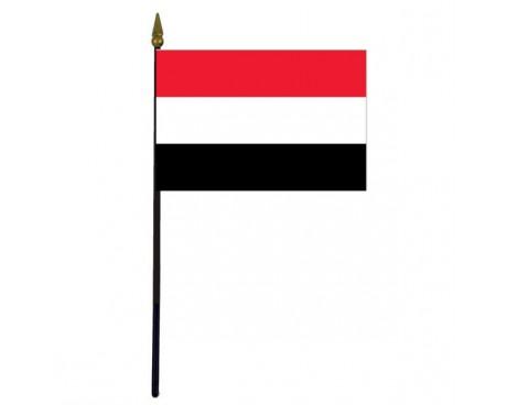 """Yemen Stick Flag - 4x6"""""""