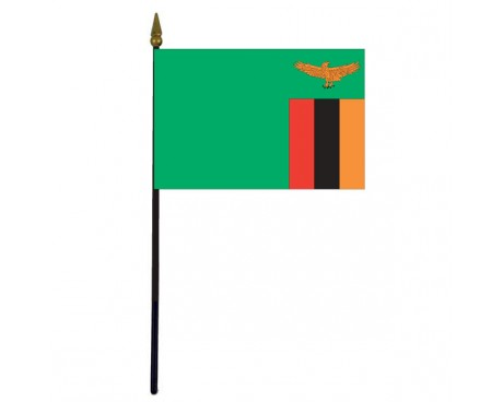Zambia Stick Flag - 4x6""