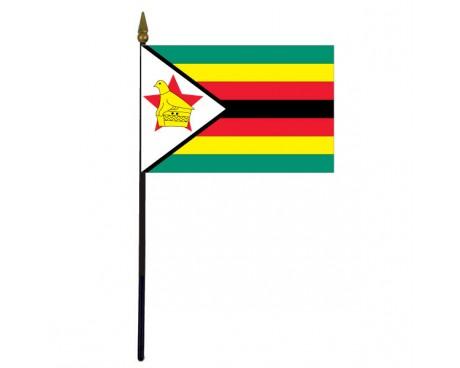 """Zimbabwe Stick Flag - 4x6"""""""