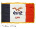 Iowa State Flag Indoor Fringe