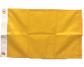"""Blank Nylon Flag, Header & Grommets, Mustard - 12x18"""""""