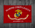 Custom Marine Corps League-Pole Sleeve with Tab
