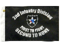 2nd Infantry Division Motorcycle Flag