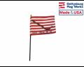 "First Navy Jack Stick Flag - 4x6"""