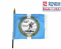 "Korean War Commemorative Stick Flag - 4x6"""
