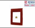 Service Star - 1 Gold Star Garden Flag