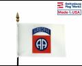 "82nd Airborne Stick Flag - 4x6"""