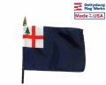 Bunker Hill Stick Flag (New England) - 4x6""