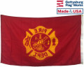 Fire Department Maltese Cross Flag - 3x5'