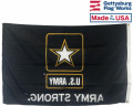 Back of Army Strong Flag