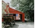 Betsy Ross on barn door