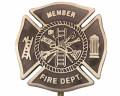 Bronze Grave Marker for Fireman