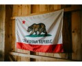California flag on barn wall
