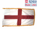 ST. GEORGE'S CROSS (ENGLAND FLAG)-3x5' with Fringe