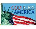 God Bless America Flag - Lady Liberty