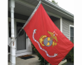 Outdoor Marine Corps Flag