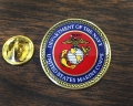 Marine Corps Seal Lapel Pin Table