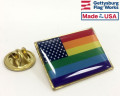 New Glory Rainbow Flag Lapel Pin