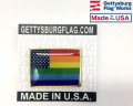 New Glory Rainbow Rectangle Lapel Pin