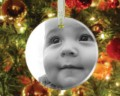 Custom Printed Porcelain Round Christmas Ornament 2.75""