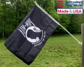 Back of the single sided pow/mia flag