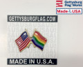Gay American Flag Pride Lapel Pin