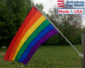 Back of Rainbow Flag