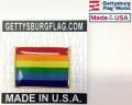 American Made Rainbow Flag Lapel Pin