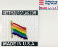 Waving Rainbow Pride Lapel Pin